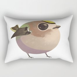 Tiny fat goldcrest Rectangular Pillow