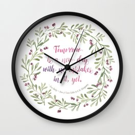 ANne of Green Gables New Day Wall Clock