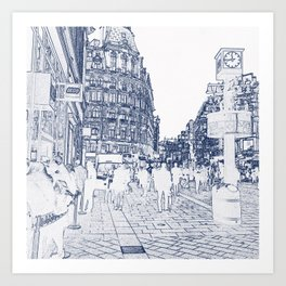 London Leicester Square Store Art Print