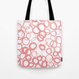 Watercolor Circle Rose Tote Bag