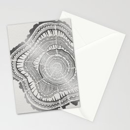 Growth Rings – 65 Years – Silver Stationery Cards