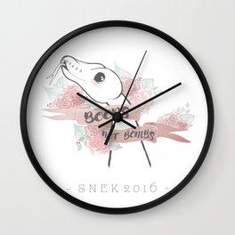 Boops Not Bombs - Snek 2016 Wall Clock