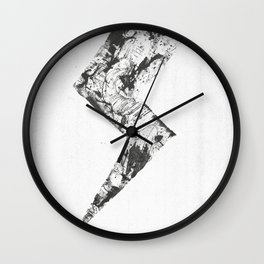 The morning after the storm. Wall Clock