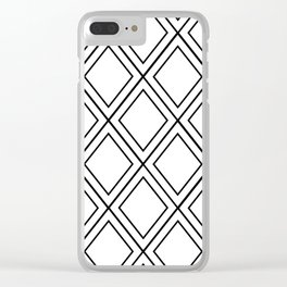 ᚖ NOIR SERIES ᚖ  - Ethnic Chic Pattern Clear iPhone Case