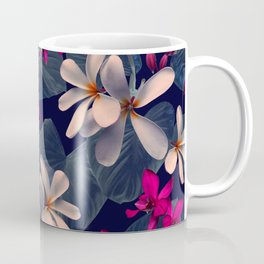 Mixed Tropical Floral in Twilight Coffee Mug