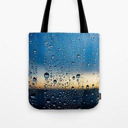 Sunset in Raindrops Tote Bag
