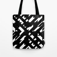 the hound Tote Bags featuring Shattered Hound by Martin Isaac