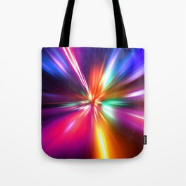 acceleration speed motion on night road Tote Bag