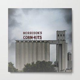 Morrison's Corn Kits Building in Denton, TX Metal Print