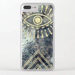 Evil Eye Gold Clear iPhone Case