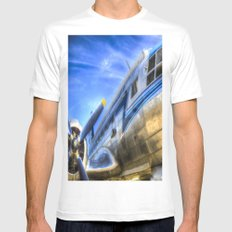 Malev Airlines Ilyushin IL-14 MEDIUM Mens Fitted Tee White