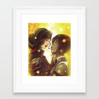 korrasami Framed Art Prints featuring Korrasami by Dani Taillefer