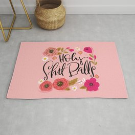 Pretty Swe*ry: Holy Shit Balls Rug