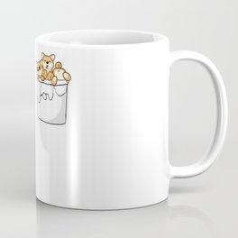 Cute Pocket Shiba Inus Coffee Mug