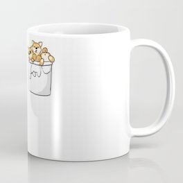Cute Pocket Shiba Inus Coffee Mug