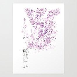 Purple Wind Art Print