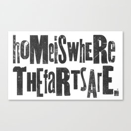 Home Is... Canvas Print