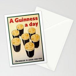 Vintage Guinness Advert Art Stationery Cards