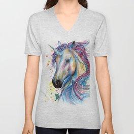 Whimsical Unicorn Unisex V-Neck