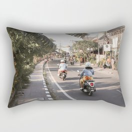 Tropical Road On Bali Island Art Print | Summer Holiday Photo | Digital Indonesia Travel Photography Rectangular Pillow