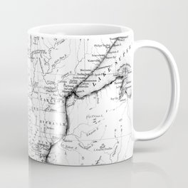 Vintage Map of Minnesota (1864) BW Coffee Mug