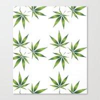marijuana Canvas Prints featuring Marijuana Leaves  by Limitless Design