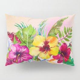 Tropical Summer Flowers 3 Pillow Sham