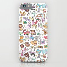 Winter Animals with Scarves Doodle iPhone 6 Slim Case