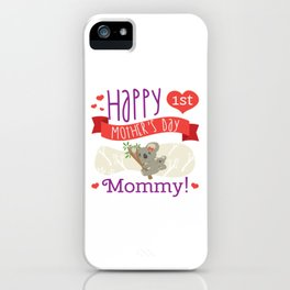 Happy Mothers Day Message Mom Grandma Koala Gift iPhone Case
