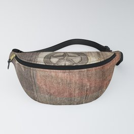 Lone Star State #Texas #woodbackground Fanny Pack