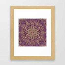 Boho Chic Bordo Framed Art Print