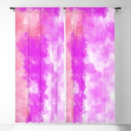 Hand Painted Abstract Magenta Pink Coral Watercolor Blackout Curtain