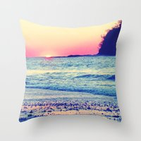 the cure Throw Pillows featuring Cure All  by Endless Summer