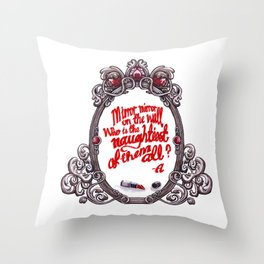 Who is the naughtiest of them all? Throw Pillow