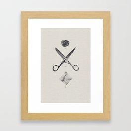 ROCK / SCISSORS / PAPER Framed Art Print