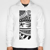 zentangle Hoodies featuring Zentangle by Wealie