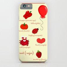Colors: red (los colores: rojo) Slim Case iPhone 6s