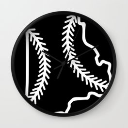 Rhode Island Baseball USA State Pride Wall Clock