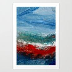 By the Angry Seashore Art Print