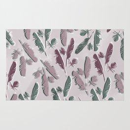 Feathers watercolor Rug