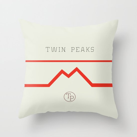 Twin Peaks High School Throw Pillow