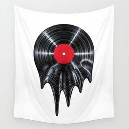 Melting vinyl / 3D render of vinyl record melting Wall Tapestry