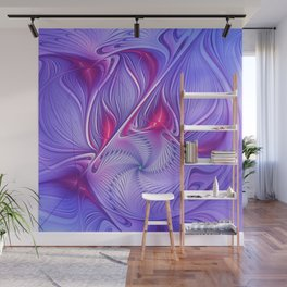 flames on texture -45- Wall Mural
