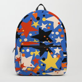 Fun ditsy print with bright colorful stars Backpack