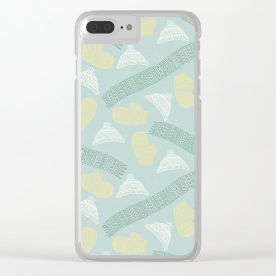 Merry Christmas- Winter fun pattern Clear iPhone Case