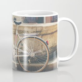 cycling across France on this pretty white bicycle Coffee Mug