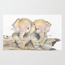 Happy Little Elephants Rug
