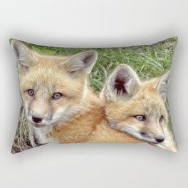 Fox Twins Rectangular Pillow