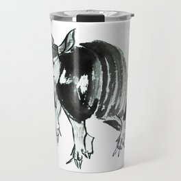 Nine-banded armadillo painted in traditional sumie technique Travel Mug