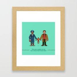Myron and Howard Framed Art Print